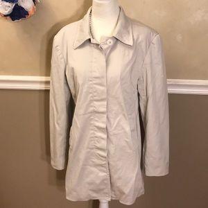 Ann Taylor Stretch khaki button down jacket